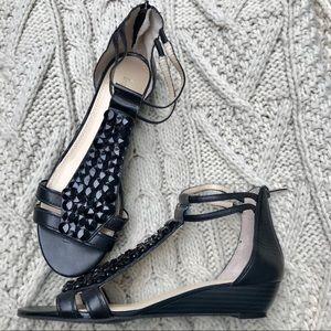 EUC ENZO ANGIOLINI Black Leather Sandals - 10